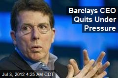 Barclay's CEO Quits Under Pressure