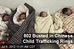 802 Busted in Chinese Child Trafficking Rings