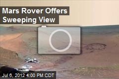 Mars Rover Offers Sweeping View
