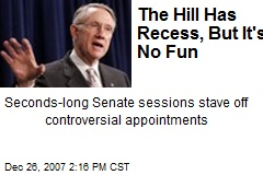The Hill Has Recess, But It&#39;s No Fun