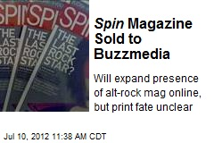 Spin Magazine Sold to Buzzmedia