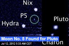 Moon No. 5 Found for Pluto