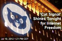 &amp;#39;Cat Signal&amp;#39; Calls for Internet Freedom