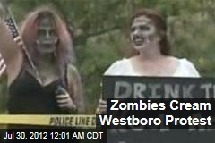 Zombies Cream Westboro Protest