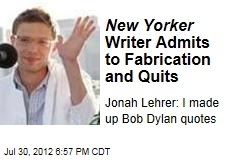New Yorker Writer Admits to Plagiarism and Quits