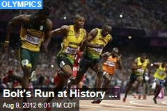 Bolt's Run at History ...