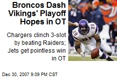 Broncos Dash Vikings' Playoff Hopes in OT