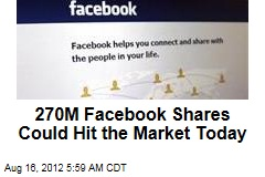270M Facebook Shares Could Hit the Market Today