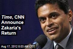 Time , CNN Announce Zakaria&amp;#39;s Return