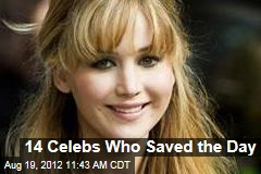 14 Celebs Who Saved the Day