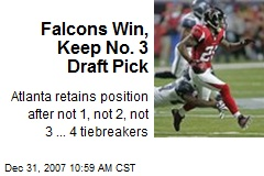 Falcons Win, Keep No. 3 Draft Pick