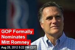 States' Roll Call: Romney Is Formal Nominee