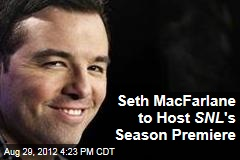 Seth MacFarlane to Host SNL &amp;#39;s Season Premiere