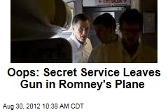 Oops: Secret Service Leaves Gun in Romney&amp;#39;s Plane