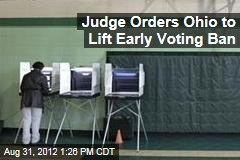 Judge Orders Ohio to Lift Early Voting Ban