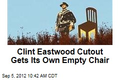 Clint Eastwood Cutout Gets Its Own Empty Chair