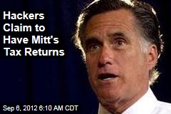 Hackers Claim to Have Mitt&amp;#39;s Tax Returns