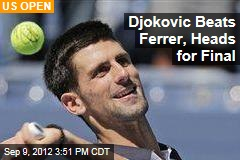 Djokovic Beats Ferrer, Heads for Final