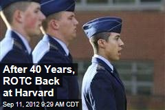 After 40 Years, ROTC Back at Harvard
