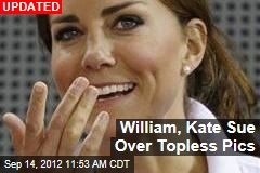 French Mag Prints Topless Kate Pics