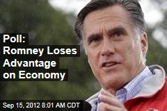 Poll: Romney Loses Advantage on Economy