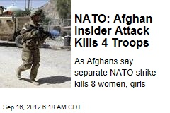 NATO: Afghan Insider Attack Kills 4 Troops