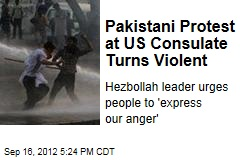 Pakistani Protest at US Consulate Turns Violent
