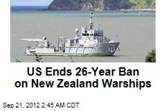 US Ends 26-Year Ban on New Zealand Warships