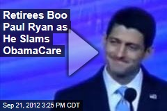 Retirees Boo Paul Ryan as He Slams Obamacare