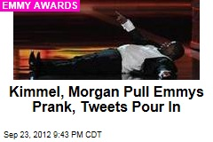 Kimmel, Morgan Pull Emmys Prank, Tweets Pour In