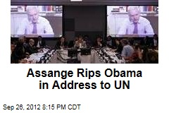 Assange Rips Obama in Address to UN