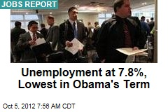 Unemployment Drops to 7.8%, 114K Jobs Added
