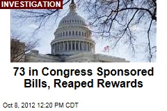 73 in Congress Sponsored Bills, Reaped Rewards