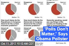 'Polls Don't Matter,' Says Obama Pollster