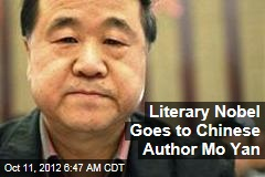 Literary Nobel Goes to Chinese Author Mo Yan