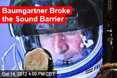 Baumgartner Begins Ascent on Supersonic Dive