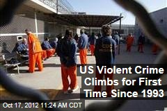 US Violent Crime Climbs for First Time Since 1993