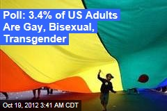 Poll: 3.4% of US Adults Are Gay, Bisexual, Transgender
