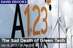 The Sad Death of Green Tech