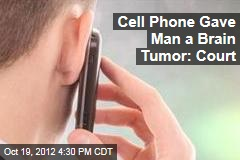 Cell Phone Gave Man a Brain Tumor: Court