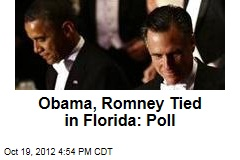 Obama, Romney Tied in Florida: Poll