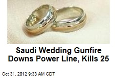Saudi Wedding Gunfire Downs Power Line, Kills 25