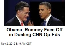 Obama, Romney Face Off in Dueling CNN Op-Eds