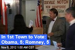 Obama, Romney Tie in First Town to Vote
