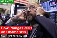 Stocks, Dollar Plunge After Obama Win