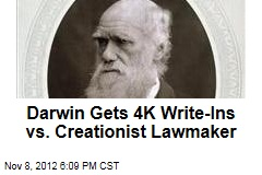 Darwin Gets 4K Write-Ins vs. Creationist Lawmaker