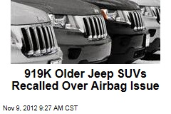 919K Older Jeep SUVs Recalled Over Airbag Issue