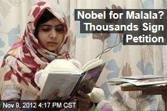 Nobel for Malala? Thousands Sign Petition