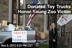 Donated Toy Trucks Honor Young Zoo Victim