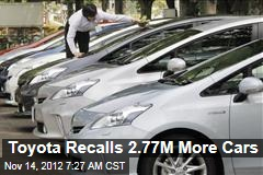 Toyota Recalls 2.77M More Cars
